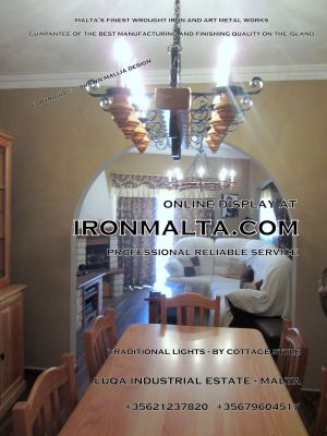 malta wrought iron metal wood chandeliers lights ideally for house of characters,  farmhouses and town houses 5 traditional
